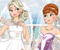 Casamento duplo de Anna e Elsa do Frozen