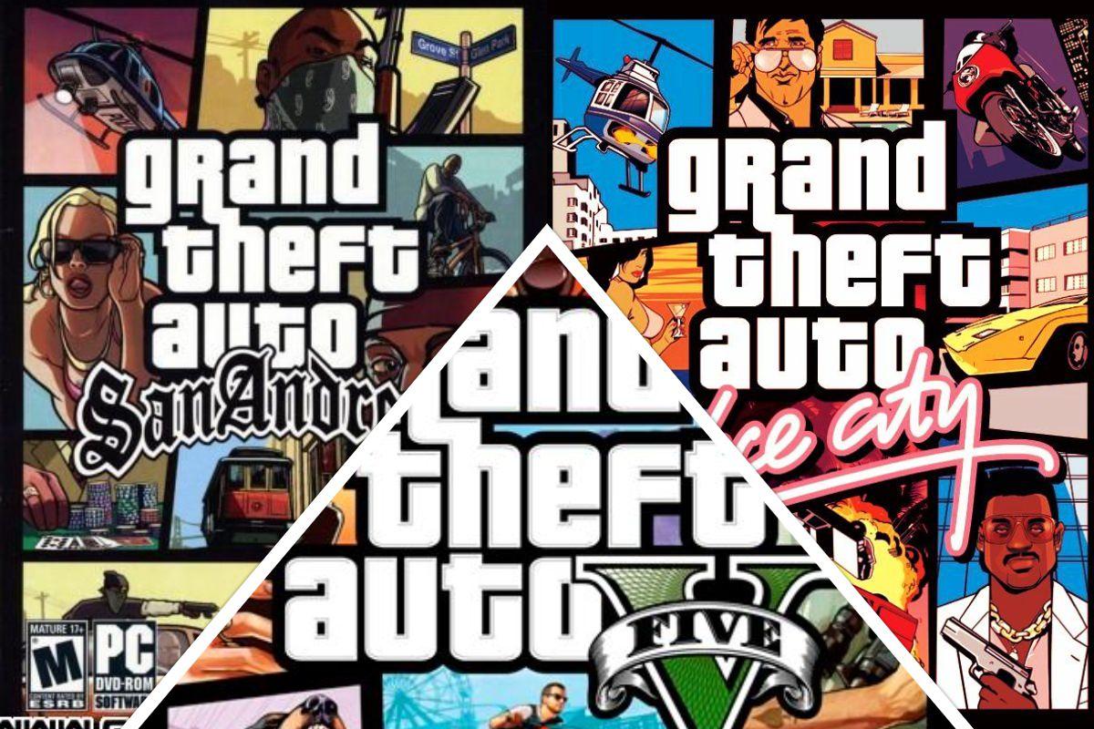 Capas do jogo GTA