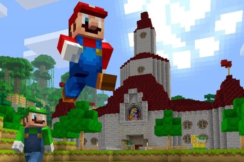 Jogo Minecraft Super Mario grátis