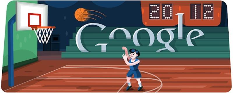 Londres Basketball 2012 Google Doodle