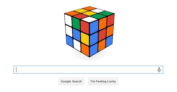 Google Doodle - Cubo mágico de Rubik