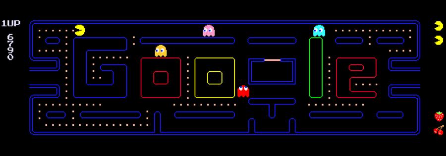 Pac Man no Google Doodle