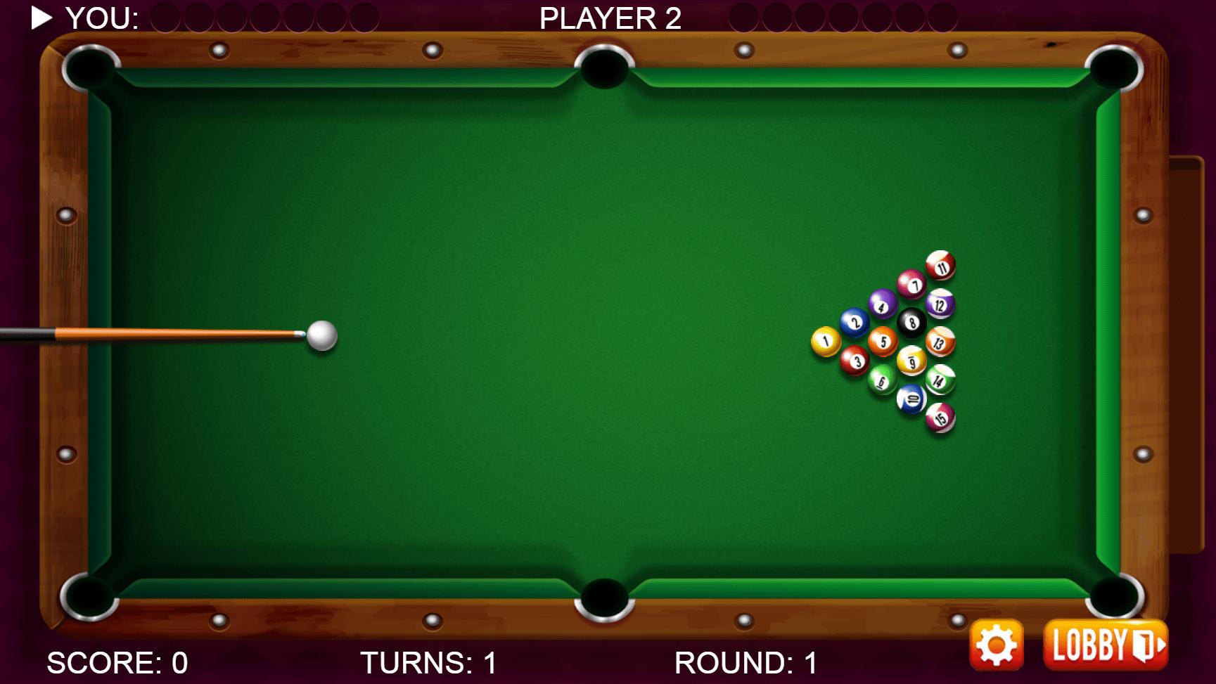 Tela do jogo 8 Ball Pool Billiards