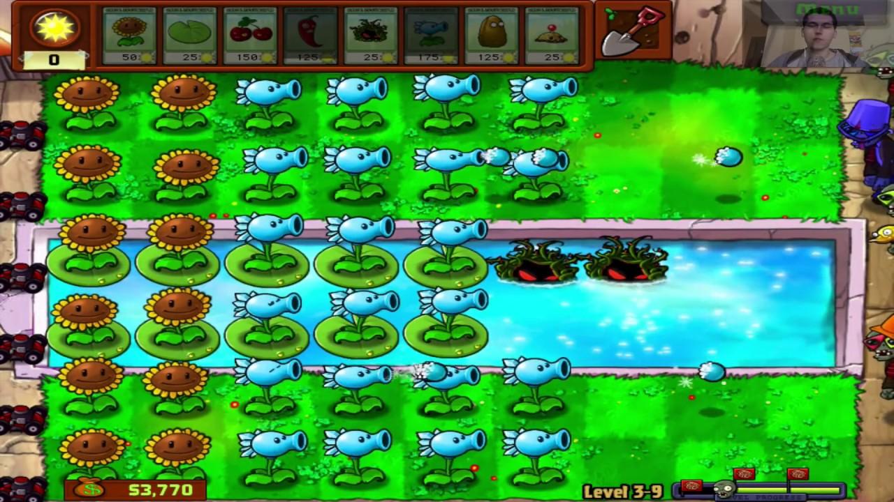 Jogando Plants Vs. Zombies para PC