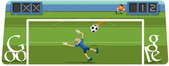 Futebol de Londres 2012 Google Doodle