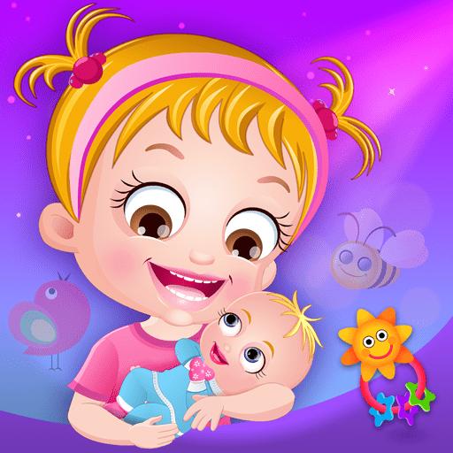 Hazel Baby com um bebê nas mãos