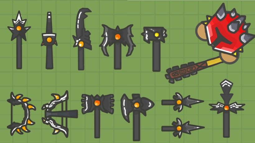 Armas do jogo MooMoo IO